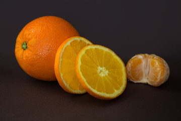 ripe orange on the table