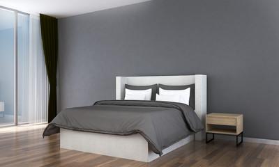 The minimal interior design of bedroom