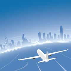 Hong Kong Skyline Flight Destination