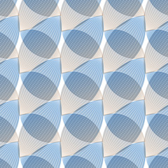 Abstract blue background, geometric shapes with many thin lines. Seamless vector pattern. Technology background with gray lines.