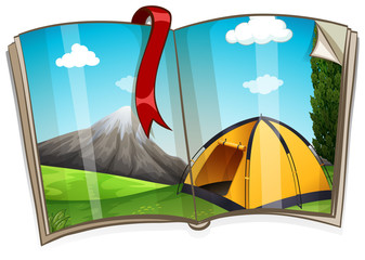 Camping site in the book