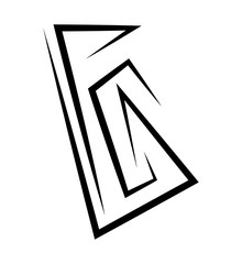 office paper logo vector symbol icon design