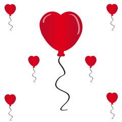 Hearts balloon on white background