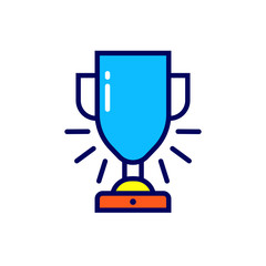 Linear award icon. Pictogram in outline style. Vector modern flat design element for mobile application and web design.