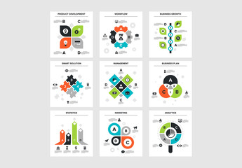 9 Square Infographic Icons 1