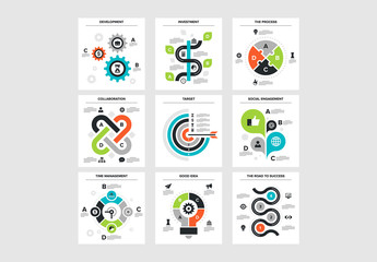 9 Square Infographic Icons 2