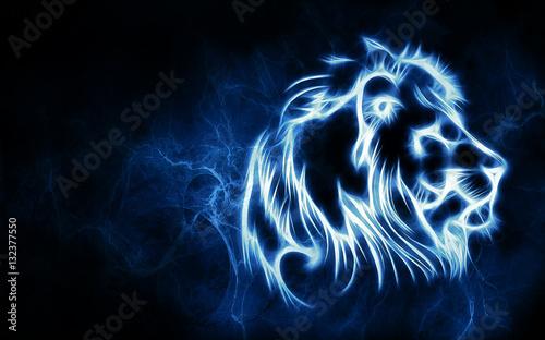 fractal Lion head background