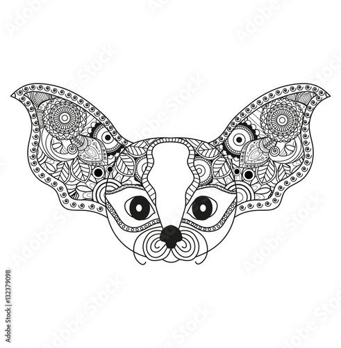 Vector illustrator of a fantasy animal mandala for for Mandala da colorare con animali