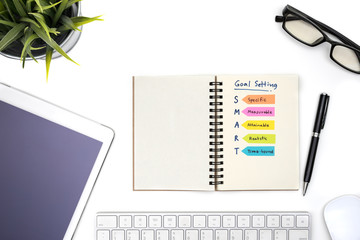 Smart goal setting with notebook