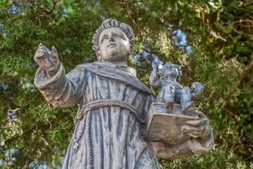 St. Anthony stone statue
