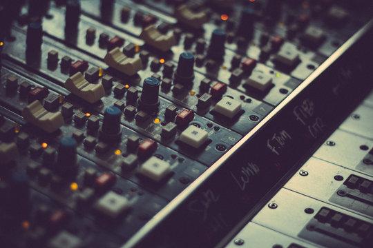 vintage sound mixer