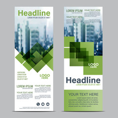 Greenery Roll up layout template mock up. flag flyer banner backdrop design. vector illustration background