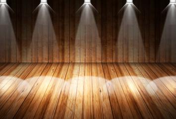 シアター スポットライトを浴びる舞台
