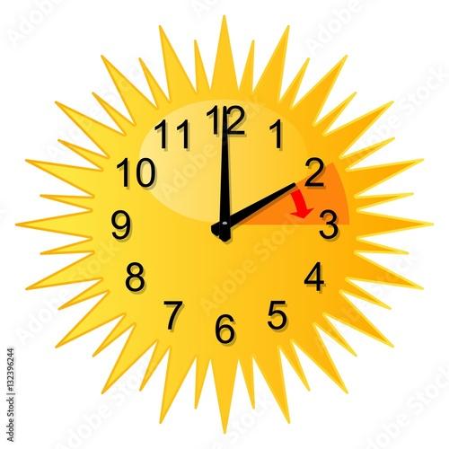 Changement d heure soleil heure d t pic 132396244 - Changement heure ete 2017 ...