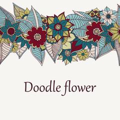 Zentangle abstract flowers. Doodle flower. Vector illustration