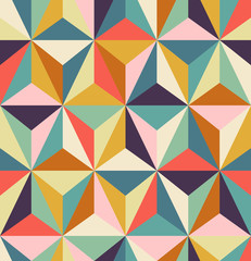motif rétro géométrique sans soudure