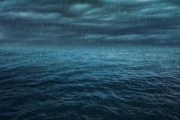 Rain and Stormy Ocean