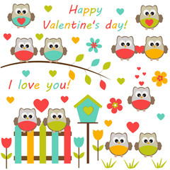 Vector collection on theme of Valentine's day.