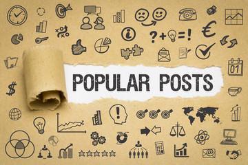 Popular Posts Papier mit Symbole