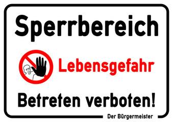 """Bilder und Videos suchen: """"betreten verboten"""""""