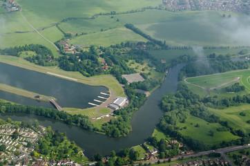 Dorney Lake and River Thames at Eton, Berkshire