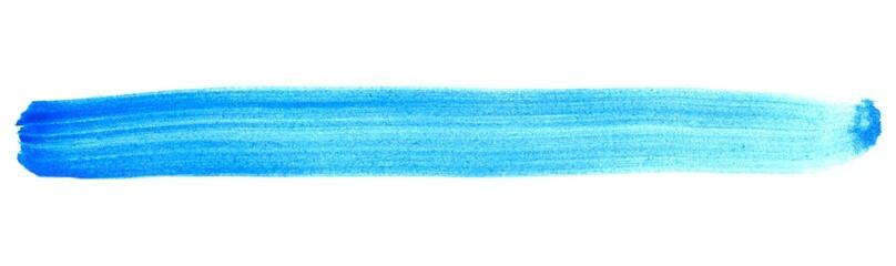 Blauer isolierter Streifen aus Tusche
