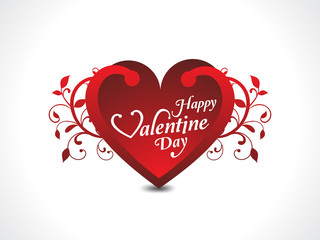 happy Valentines day text & Heart Shape Design Template With floral