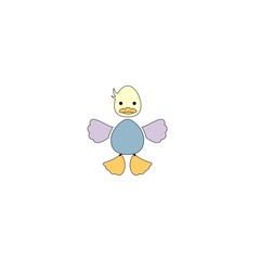 Cartton style duck fictional