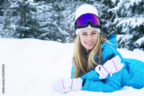 """""""Smiling beautiful young woman with long blonde hair in ..."""
