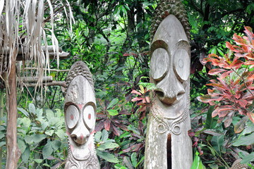 Tam tams-slit gongs of the Mage society. Ambrym island-Vanuatu. 6135