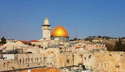 View on the wailing wall.
