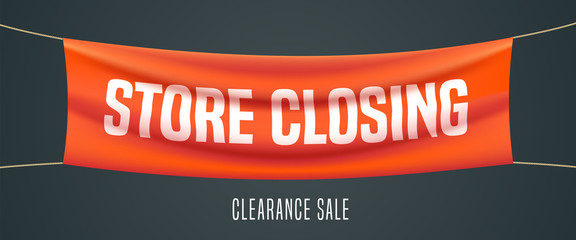 Store closing vector illustration, background