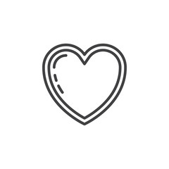 Heart line icon, outline vector sign, linear pictogram isolated on white. Love symbol, logo illustration