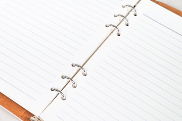close up of empty notebook (memo) open