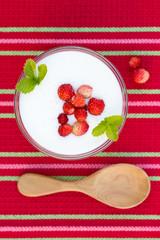 healthy diet dessert with fresh berries