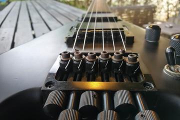 Electric guitar. Close up. Back Electric guitar.