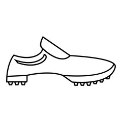 Men sneakers icon, outline style