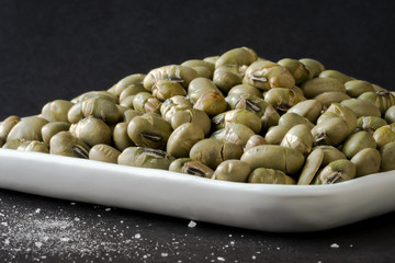 Roasted and salted edamame