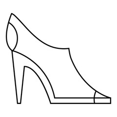 Women autumn shoes icon, outline style