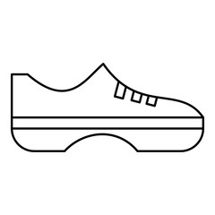 Women sneakers icon, outline style