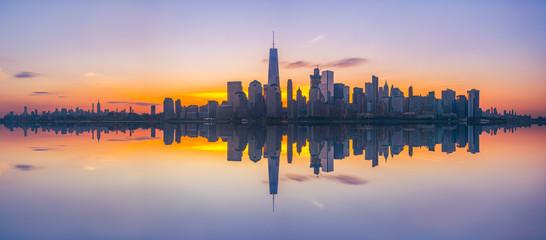 New York City Skyline Reflections panorama  Wall mural