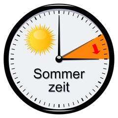 Uhr. Sommerzeit