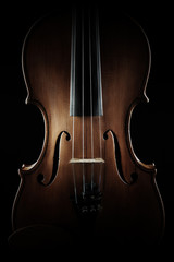 Photo sur Toile Musique Violin close up