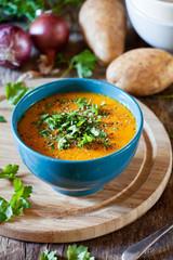 Carrot Potato And Onion Soup