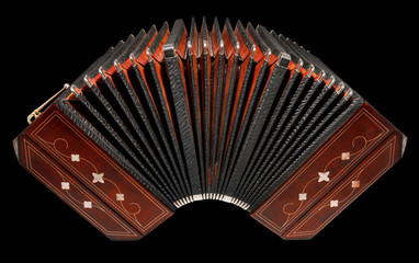 Bandoneon, argentine tango instrument, isolated with path