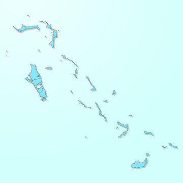 Bahamas blue map on degraded background vector