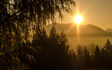 Sunrise Over Snoqualmie Valley