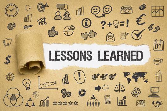 Lesons Learned / Papier mit Symbole