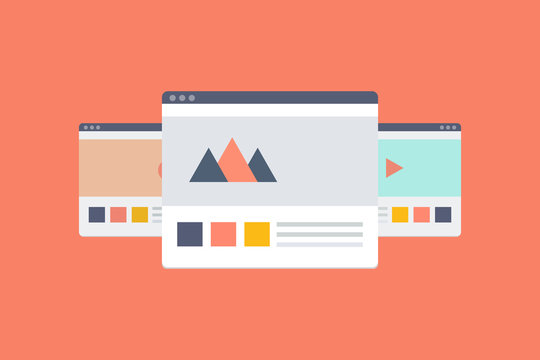 Multi site network - vector graphics
