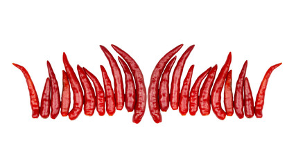 red chili pepper isolated on a white background - clipping paths